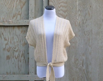 1970s Cropped Batwing Sweater