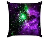 """Galaxy (3) - Photo Sofa Throw Pillow Envelope Cover for 18"""" inserts"""