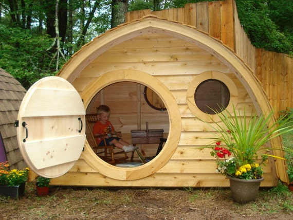 how to make a round hobbit door