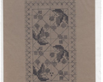 "Clearance - ""Raspberry Bramble"" Counted Cross Stitch Chart by Cedar Hill"