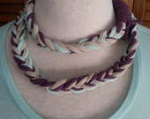 Recycled T Shirt Braided Necklace Lariat