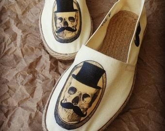 Hand Painted Espadrille  -  Mr. Kotika  - Custom Shoes