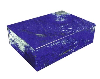 Afghanistan Lapis Lazuli Gem Stone Jewelry Box, Ring, Stash Box, Absolutely Gorgeous and Unique  0811K abe