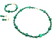 Malachite with Black Accents Jewelry Set