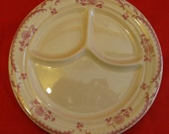 "Shenango Inca Ware Restaurant Ware China 9 3/4"" ""Chardon Rose"" Grille Plates"