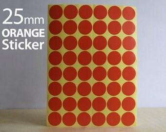Set 624, Orange Circle sticker 25mm