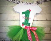 1st Birthday tutu outfit-- St. Patrick's Day