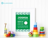 Golf Birth Print - Nursery Art Print - Sports art print - Birth Print - Birth Announcement - kids art print - Wall Art - Boys art print