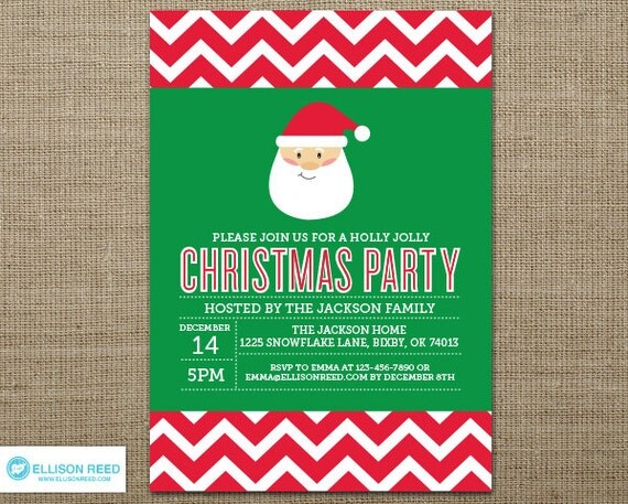 Christmas Party Invitation - Santa Christmas Party ...
