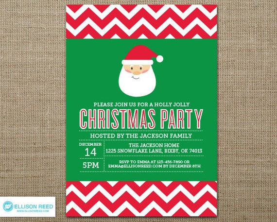 ... Invitation - Secret Santa Invitation - Secret Santa Party - Printable