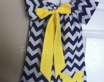 Wolverines Chevron Peasant Dress