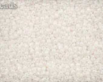 15/0 TOHO seed beads 10g Toho beads 15/0 seed beads Opaque Rainbow White 15-401 White seed beads
