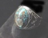 Vintage Navajo Mens  Turquoise Ring