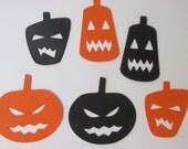 DIY Pumpkin garland, pumpkin die cuts, paper die cuts, paper pumpkins, evil pumpkin garland