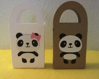 12 Mini Panda gift box/bag,  favor bags, mini favor bags