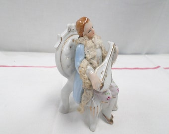 Porcelain Bisque Figurine Mandolin Player  (w819)