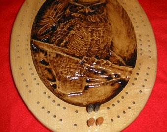 Owl Cribbage Board