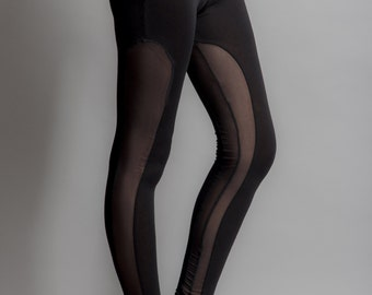 Double fishnet incrustations leggings size S, M, L