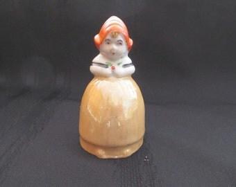 Lusterware Dinner Bell Dutch Girl Made in Japan Vintage