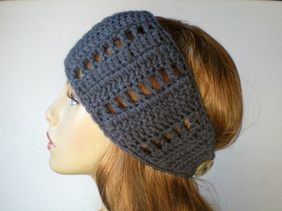 Crochet Hair Wrap : Head Wrap, Ear Warmer, head band, hair band, winter, Easy Crochet ...