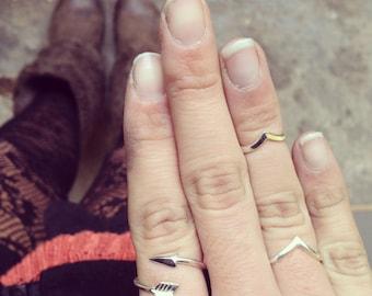 ARROW handmade sterling silver ring