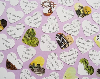 Winnie The Pooh Confetti Hearts - Choose from 50 to 600 hearts - Baby Shower, Birthday Party, Christening Decor