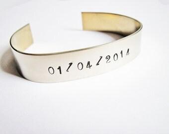 Custom Wedding Gift, Wedding Date Jewelry, Personalized Wedding Gift, Anniversary Date Bracelet, Keepsake, Unique Wedding Anniversary Gift
