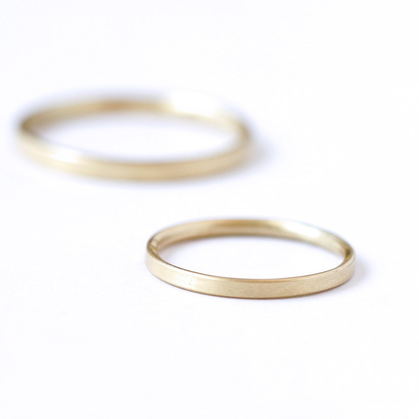 Simplistic Bands: Simple Wedding Band Thin Gold Band Simple Gold Band Dainty