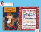 Cowboy Baby Shower Invitations - Printed Baby Shower Invitations - Custom Invitations