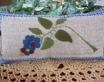 Blueberry Cluster Shelf Pillow Tuck
