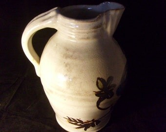 Hand Thrown and Hand Painted 2 Gallon Stoneware Pitcher    p368
