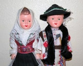 2 Vintage 12 inch Ethnic Well Made Dolls