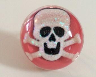 Skull Ring - Pink Skull Ring - Skull Jewelry - Skull & Crossbones - Halloween Ring - Halloween Jewelry - Skull