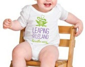 Leaping For Leland Cystic Fibrosis White Onesie
