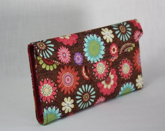 Pop Floral and Pink Signature Wallet
