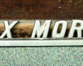 Vintage Hearse Advertising Rolax Mortuary Chromed Plate