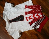 Valentine's Day Iron On Tie Applique for Toddler Boy Shirts (Size 1-3T)