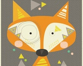 SALE FABRIC PANEL Teddy Fox to sew or frame. Cat and Vee.