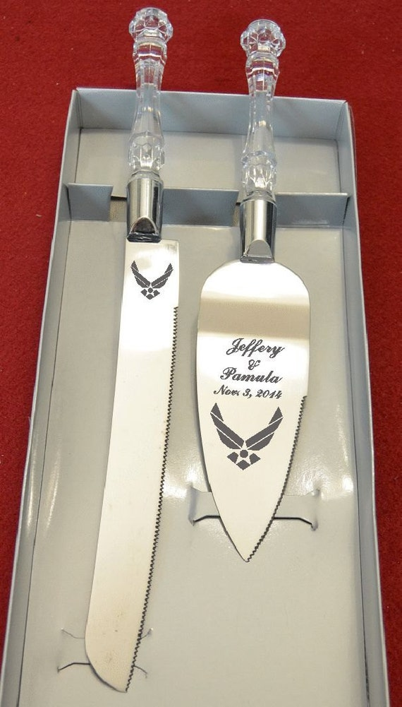 wedding cake servers air wedding cake knife and server with names and date 24281