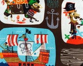 TODDLER or NEWBORN Bib: Pirate Blocks on the High Seas, Personalization Available