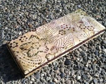 Magic Wallet - Batik Flowers and Leaves in Brown