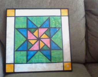 Framed Quilt Block, Item #QB17