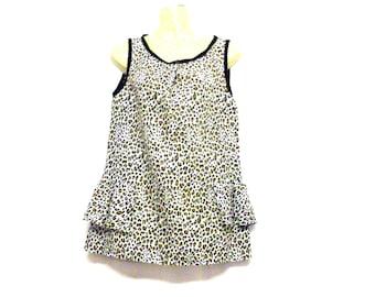 Peplum Top - Leopard Print Top - Sleeveless Top - Evening Top - 1960s Top - High Neck Top - Size 8 - Size 10 - Size Small