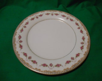 "Two (2), 10 1/2"", Porcelain Dinner Plates, from Noritake, in the Ridgewood 5201 Pattern."