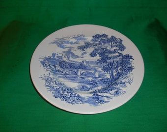 "One (1), 10"" Dinner Plates, from Wedgwood, in the Countryside Blue Pattern."