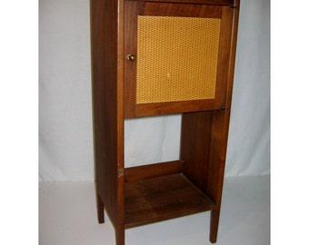 Vintage Mid Century Scandinavian Modern Side Cabinet, Bedside Cabinet, or Telephone Cabinet