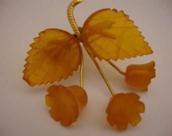 Amber Baltic Brooch Genuine Vintage 5.07 Gr Elegant Butterscotch Color (SR024)