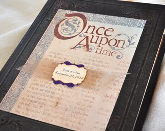 Once Upon A Time Fairy Tale Guest Book Book Wedding