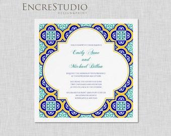 Sample - Spanish Square Tiles Wedding Invitation