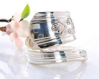 Vintage Spoon Ring - Rosalie Silverware Spoon Ring - Spoon Jewelry - Silverware Spoon Ring - Spoon Ring - Silverware Jewelry (mcf  R511)